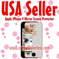 USA New Mirror LCD Screen Protector Cover Film Guard for Apple iPhone 4S 4GS