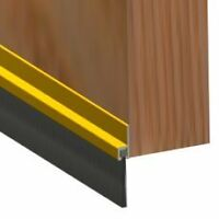 BOTTOM DOOR BRUSH DRAUGHT EXCLUDER GOLD BRASS