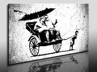 Kunstdruck Banksy Graffiti - Street Art  Bild auf Leinwand, Wandbild, k. Poster