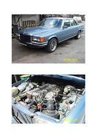 MERCEDES-BENZ-280-SE-W-116-SCHLACHTFEST-MOTOR-KOMPLETT-160000-KM-Baujahr-1975