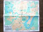 Plan en couleur de Bagdad, Baghdad (Irak, Iraq) 1977 en anglais et arabe