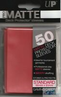 ULTRA PRO PRO-MATTE RED DECK PROTECTORS CARD SLEEVES FOR MTG WoW POKEMON CARDS