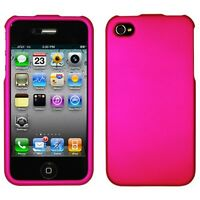 For Apple iPhone 4 4S Phone Case Hot Bright Pink Faceplate Hard Cover Protector