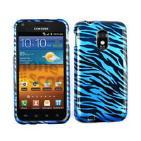 Blue Zebra Print Skin Cover Hard Case For Samsung Galaxy S II Epic Touch 4G D710