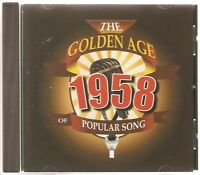 THE GOLDEN AGE OF POPULAR SONG 1958 CD - MAGIC MOMENTS, FEVER & MORE