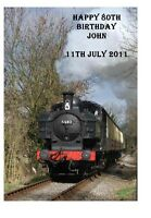 Personalised A5 Steam Train Birthday Card Any Relation Grandad Dad Uncle Son