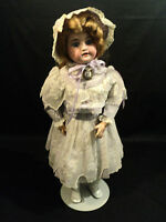 "BEAUTIFUL ANTIQUE ARMAND MARSEILLE BISQUE HEAD, COMPOSITION BODY, 20"" DOLL"