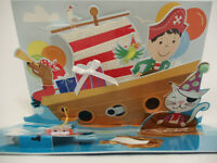 Ship's Captain All Occasions Pop Up Greeting Cards for Boys