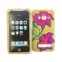 Two Pink Crystal Flowers Hard Case For HTC Evo 4G A9292 Sprint Cover Faceplate