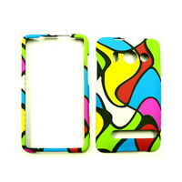 Random Colors Phone Case For HTC Evo 4G A9292 Sprint Hard Cover Faceplate