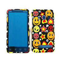 Smileys Peace Signs Stars Hard Case Faceplate Cover For HTC Evo 4G A9292 Sprint