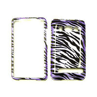 Purple Zebra Print Skin Case For HTC Evo 4G A9292 Hard Cover Faceplate Accessory