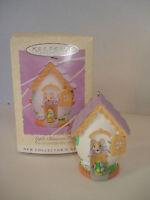 Hallmark Keepsake Ornament Apple Blossom Lane Easter Collection Egg House 1995