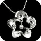 18k white gold gp made with SWAROVSKI crystal pendant wedding party necklace