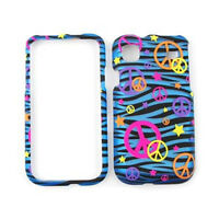 For Samsung Galaxy S 4G Vibrant T959 i9000 Case Cover Blue Zebra Print Peace