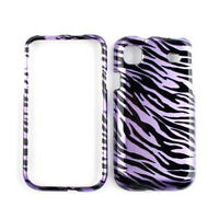 Purple Zebra Print Skin Case Cover For Samsung Galaxy S 4G Vibrant T959 i9000