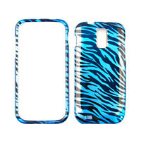 Blue Zebra Print Skin Cover For Samsung Galaxy S 2 T989 Protector Hard Case