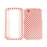 For Apple iPhone 3G 3GS Phone Cover Red And White Checker Hard Case Faceplate