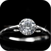 18K WHITE GOLD GP MADE WITH SWAROVSKI CRYSTAL WEDDING RING US 6 3/4 UK AU N 1/2