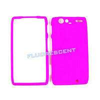 Hot Bright Pink Hard Cover Case For Motorola Droid RAZR XT912 Faceplate Skin