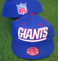 NFL New York Giants Mitchell and Ness Hat Cap Fitted All Sizes M&N NEW