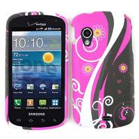 White Vines On Pink Black Hard Case For Samsung Stratosphere i405 Phone Cover