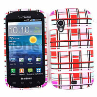 Red & Light Pink Blocks Hard Cover Phone Case For Samsung Stratosphere i405