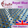 56 x 8mm Royal Blue Quality Rhinestone Diamante Gems Diamonte 4 Greeting Cards