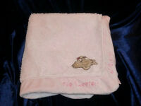 CLASSIC WINNIE THE POOH PINK THE SWEETEST OF DREAMS PINK BABY GIRL BLANKET
