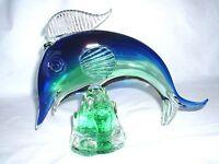 Mehrfarbiger Glasfisch Sommerso Murano um 1960