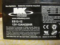 12 Volt 12 Amp/hr  # ES 12 12 factory fresh deep cycle battery sealed lead acid