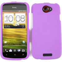 Purple Hard Cover Protector for T-Mobile HTC One S Phone Case Snap On Faceplate