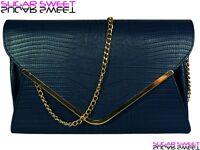 Ladies Large Leather Style Snakeskin Clutch Bag Evening Bag Snake Skin Handbag