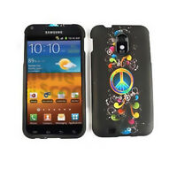Rainbow Peace Sign Hard Cover Case for Samsung Galaxy S 2 Epic Touch 4G D710
