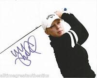 LPGA GOLFER MORGAN PRESSEL HAND SIGNED 8X10 PHOTO A W/COA SEXY CALLAWAY 2012