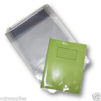 3 x  SCHOOL EXERCISE BOOK COVERS 230mm x 363mm clear plastic reusable!