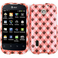 Saints Light Pink Snap on Case for AT&T Huawei Fusion U8652 Faceplate Cover