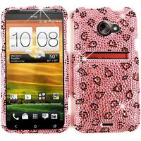 For Sprint HTC Evo 4G LTE Faceplate Protector Hard Cover Pink Leopard Print Case