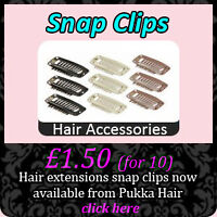 PACK OF 10 BROWN WEFT HAIR SNAP CLIPS 30mm EXTENSIONS WEFTS