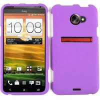 For Sprint HTC Evo 4G LTE Protector Hard Cover Bright Purple Snap on Phone Case