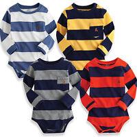 "NWT Vaenait Baby Newborn Infant Bodysuit One-Piece "" Long Stripe Bodysuit """