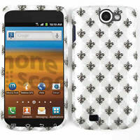 Phone Cover for Samsung Exhibit 2 II T679 Hard Case Black White Saints on Gray