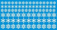 Snowflakes Christmas window / wall decoration sticker