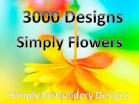 Simply Flowers Embroidery Design CD/Over 3000 Designs/PES HUS JEF DST etc