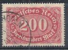 1922-23 GERMANIA USATO REICH WEIMAR 200 M F.2 - DE015