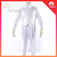 Boys Kids White Christening Tuxedo Formal Suit Dress Page Shirt Pants Size New