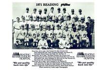 1971 READING PHILLIES 8X10 TEAM PHOTO SCHMIDT BOONE HOF MLB USA VINTAGE BASEBALL
