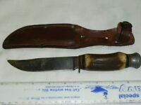 Vintage EIG Cutlery Bowie Hunting Fighting Stag Knife & Sheath