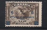 Canada Stamps- Scott # C4/AP2-6c on 5c-Canc/LH-1932-Air Postal Surcharged