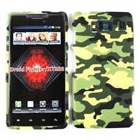 For Motorola Droid Razr HD XT926 Phone Case Hard Cover Yellow Black Green Camo
